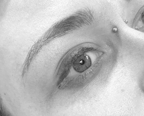 Jane's brows after feather tattoo at Perth Brown Lab